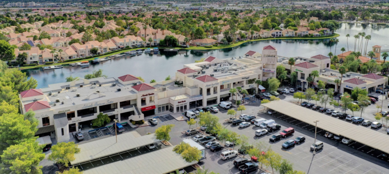 Aerial view of Lakeside Event Center in Desert Shores Summerlin