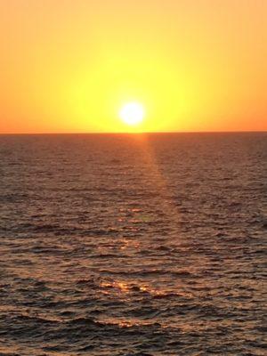 Sunset view in La Jolla